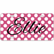 Monogram Custom Mini License Plate Polka Dots - You Make It 3