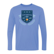 Team Awesome - Light Youth Long Sleeve Ultra Performance 100% Performance T Shirt