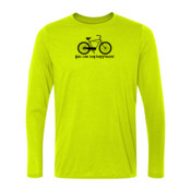 You Can Buy Happiness Men's Cruiser Bike - Light Youth Long Sleeve Ultra Performance 100% Performance T Shirt