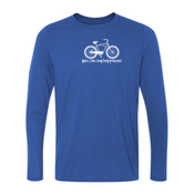 You Can Buy Happiness Men's Cruiser Bike - Ladies Long Sleeve Ultra Performance 100% Performance T Shirt