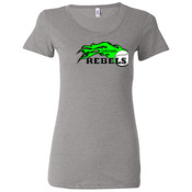 Colorado Rebels Lime - Ladies' Triblend Short Sleeve T-Shirt 2