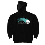 Rebels - Teal - DryBlend™ Pullover Unisex Hooded Sweatshirt 2