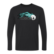 Rebels - Teal - Ladies Long Sleeve Ultra Performance 100% Performance T Shirt 2