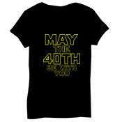 May the 40th Be With You  - Bella Short-Sleeve V-Neck T-Shirt
