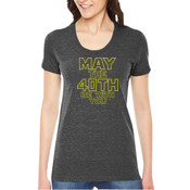 May the 40th Be With You  - Ladies' Triblend American Apparel T-shirt