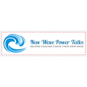 "New Wave Power Talks - 3"" x 10"" Bumper Decal"
