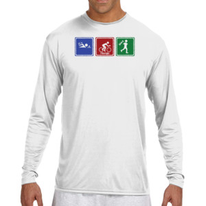 515f7cbcdbb Signs of Tri - (S) Long Sleeve Cooling Performance Crew Light Color Shirt