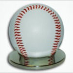Custom Laser Baseball with Stand