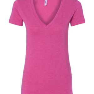 Ladies' Triblend Deep V-Neck T-Shirt Thumbnail