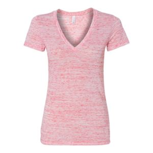 Women's Jersey Short Sleeve Deep V-Neck Tee Thumbnail