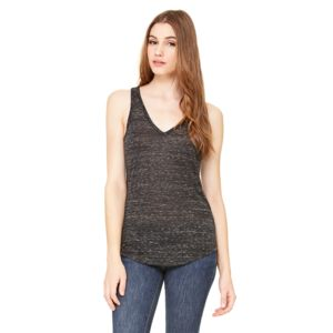 Ladies' Flowy V-Neck Tank - Dark Thumbnail