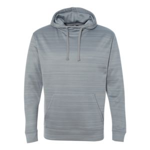 Striped Poly Fleece Hooded Pullover Sweatshirt Thumbnail