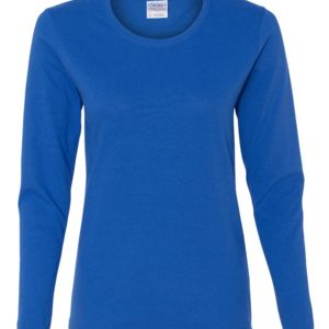 Gildan Ladies Ultra Cotton™ Long Sleeve Missy Fit T Shirt Thumbnail