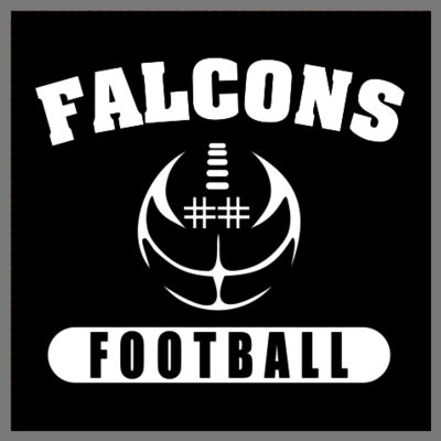 Falcons Football Decal with Player Number Thumbnail