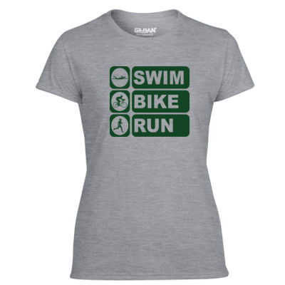 Swim Bike Run Vertical Triathlon - Women Gree Thumbnail