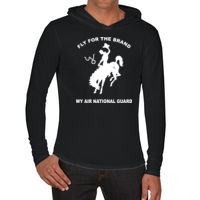 WY Air National Guard  - Adult Heavyweight RS Long-Sleeve Hooded T-Shirt Thumbnail