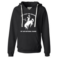 WY Air National Guard  - Ladies' Sueded V-Neck Hooded Sweatshirt Thumbnail