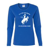 WY Air National Guard  - Gildan Ladies Ultra Cotton™ Long Sleeve Missy Fit T Shirt Thumbnail
