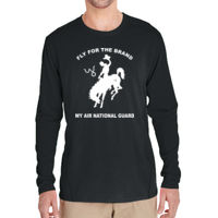 WY Air National Guard  - Adult Tech Long-Sleeve Dark Color T-Shirt Thumbnail