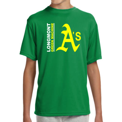Green Machine - Youth Shorts Sleeve Cooling Performance Crew Dark Color Shirt Thumbnail