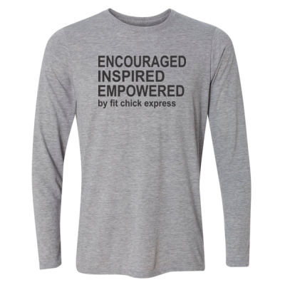 Encouraged, Inspired, Empowered - Light Long Sleeve Ultra Performance Active Lifestyle T Shirt Thumbnail