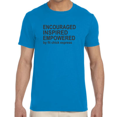 Encouraged, Inspired, Empowered - Adult Softstyle® 4.5 oz. Heather Color T-Shirt (S) Thumbnail