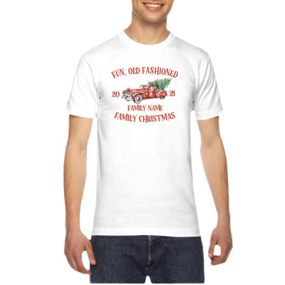 Old Truck - Old Fashioned Family Christmas - American Apparel Unisex T-Shirt Thumbnail