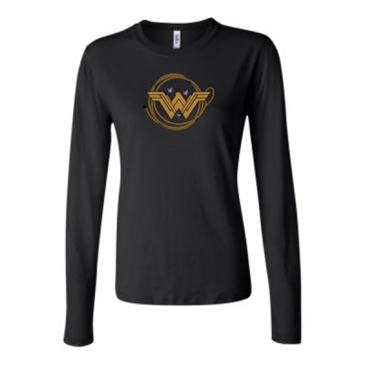 Childhood Cancer Awareness - Bella Long Sleeve Crew Tee 2 Thumbnail