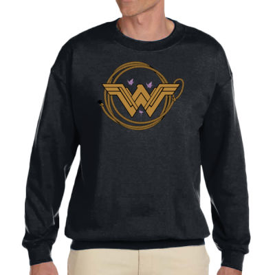 Childhood Cancer Awareness - Adult Heavy Blend™ Adult 8 oz., 50/50 Fleece Crew 2 Thumbnail