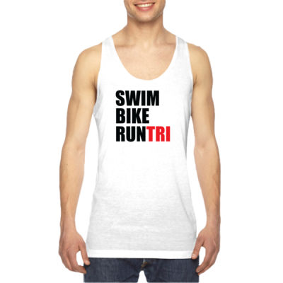 Swim Bike Run Tri Triathlon - American Apparel Unisex Sublimation Tank Thumbnail