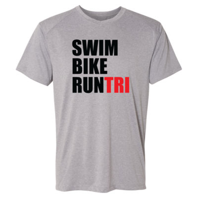 Swim Bike Run Tri Triathlon - (S) Kinergy Training Light Color Tee Thumbnail