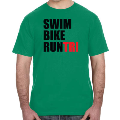 Swim Bike Run Tri Triathlon - Lightweight T-Shirt Thumbnail