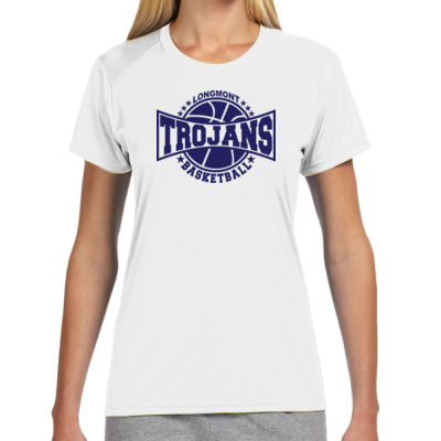 LHS Basketball - (S) Ladies' Shorts Sleeve Cooling Performance Crew Light Color Shirt Thumbnail