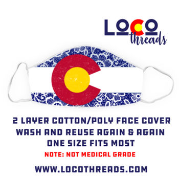 Colorado Flag Lace - Face Cover (Mask) Thumbnail