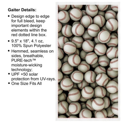 Baseball Collage - Multi-Purpose UV Gaiter Thumbnail