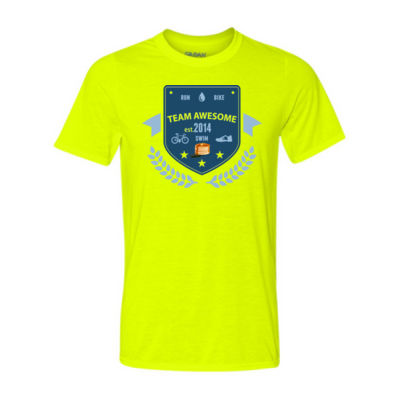 Team Awesome - Light Youth/Adult Ultra Performance 100% Performance T Shirt Thumbnail