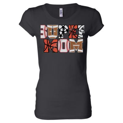 Super Mom - Ladies' Sheer Jersey T-Shirt Thumbnail