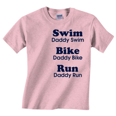 Triathlon Daddy Text - Unisex or Youth Ultra Cotton™ 100% Cotton T Shirt Thumbnail