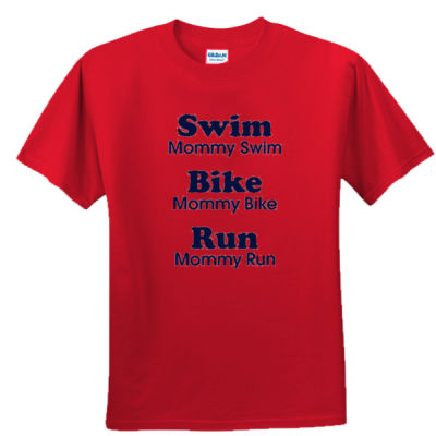 Triathlon Mommy Text - Unisex or Youth Ultra Cotton™ 100% Cotton T Shirt Thumbnail