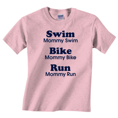 Triathlon Mommy Text - Heavy Cotton™ Toddler 5.3 oz. T-Shirt Thumbnail