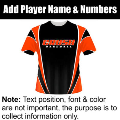 Crush Sublimated Team Jersey Thumbnail