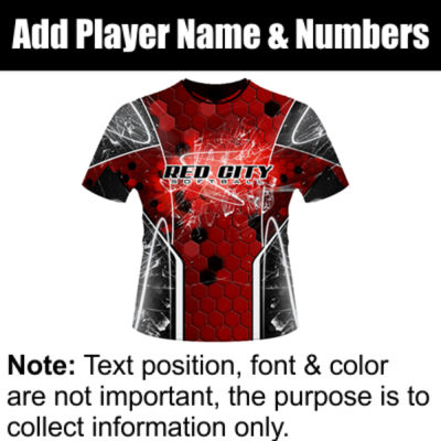 Red City Sublimated Team Jersey Thumbnail