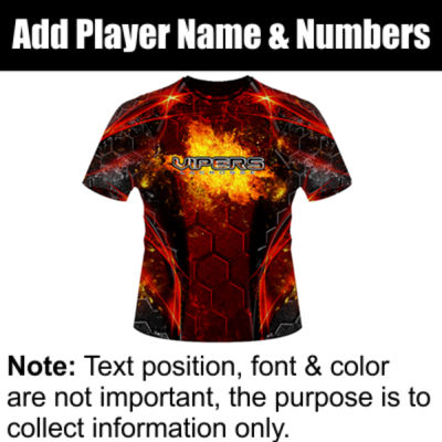 Viper Sublimated Team Jersey Thumbnail