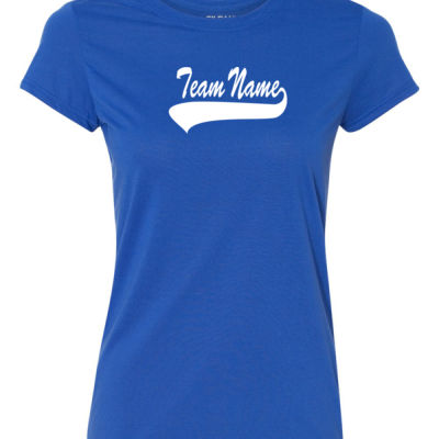 Custom Team Ladies T-shirt with Name & Number - 100% Performance Tee from Gildan Thumbnail