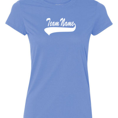 Custom Team Ladies T-shirt with Number Only - 100% Performance Tee from Gildan Thumbnail