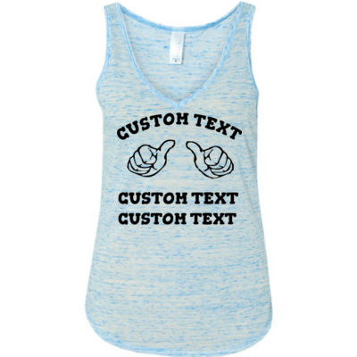 Custom Thumbs  - Ladies' Flowy V-Neck Tank Thumbnail