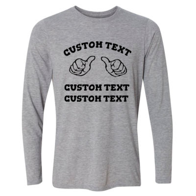 Custom Thumbs  - Light Long Sleeve Ultra Performance 100% Performance T Shirt Thumbnail