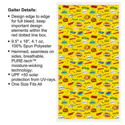 Super Hero Yellow - Multi-Purpose UV Gaiter Thumbnail