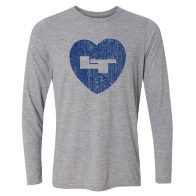LT Longmont Trojans Heart - Light Youth Long Sleeve Ultra Performance Active Lifestyle T Shirt Thumbnail