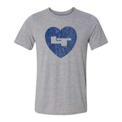 LT Longmont Trojans Heart - Light Youth/Adult Ultra Performance Active Lifestyle T Shirt Thumbnail